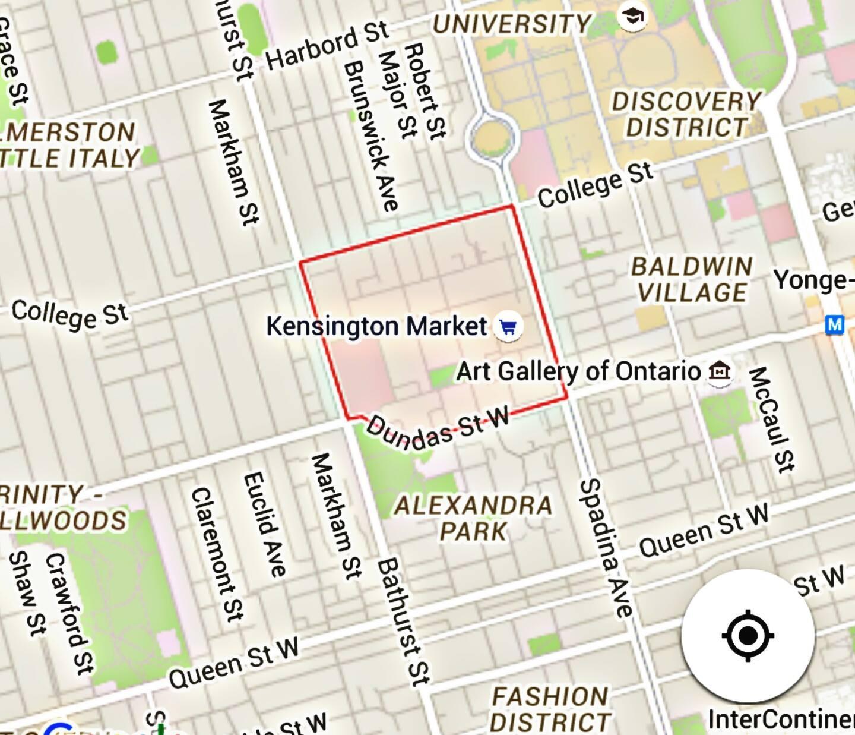 Kensington Market map - Map of Kensington Market (Canada)
